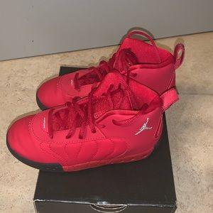 Boys Red Jordan Sneakers